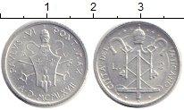 Изображение Монеты Ватикан 2 лиры 1967 Алюминий XF