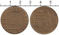 Изображение Монеты Австрия 20 шиллингов 1984 Латунь XF
