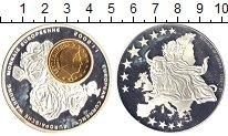 Изображение Мелочь Либерия 1 доллар 2002 Посеребрение Proof-