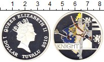 Изображение Монеты Тувалу 1 доллар 2010 Серебро Proof Елизавета II. Цветна