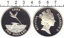 Изображение Монеты Великобритания Бермудские острова 2 доллара 1993 Серебро Proof