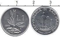 Изображение Монеты Сан-Марино 1 лира 1993 Алюминий XF