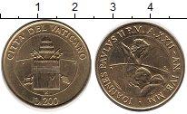 Изображение Монеты Ватикан 200 лир 2000 Медь XF