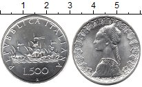 Изображение Монеты Италия 500 лир 2001 Серебро UNC-