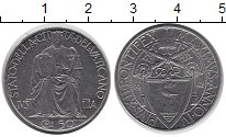 Изображение Монеты Ватикан 50 сентесимо 1942 Медно-никель XF Понтифик   Пий XII.