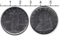 Изображение Монеты Ватикан 100 лир 1962 Медно-никель XF