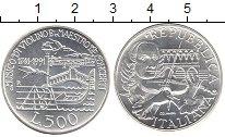 Изображение Монеты Италия 500 лир 1991 Серебро UNC- 250 лет смерти Антон