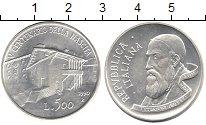 Изображение Монеты Италия 500 лир 1990 Серебро XF 500 лет со дня рожде