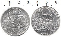 Изображение Монеты Италия 1000 лир 1998 Серебро UNC- 400 лет со дня рожде