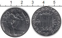 Изображение Монеты Сан-Марино 100 лир 1985 Медно-никель XF Борьба с наркотиками