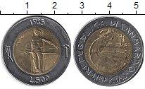 Изображение Монеты Сан-Марино 500 лир 1985 Биметалл XF