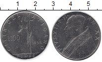 Изображение Монеты Ватикан 100 лир 1958 Железо XF