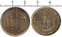 Изображение Монеты Сан-Марино 200 лир 1993 Медь XF