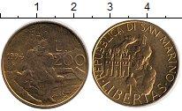 Изображение Монеты Сан-Марино 200 лир 1994 Медь XF
