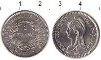 Изображение Монеты Франция 1 франк 1992 Медно-никель UNC