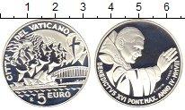 Изображение Монеты Ватикан 5 евро 2008 Серебро Proof Понтифик  Бенедикт X