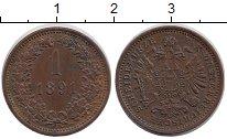 Изображение Монеты Австрия 1 геллер 1891 Медь XF