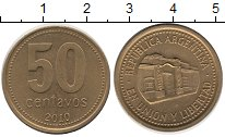 Изображение Монеты Аргентина 50 сентаво 2010 Медь XF