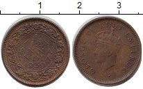 Изображение Монеты Индия 1/12 анны 1939 Медь XF