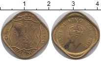 Изображение Монеты Индия 1/2 анны 1943 Медь UNC-