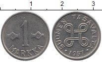 Изображение Монеты Финляндия 1 марка 1957 Железо XF
