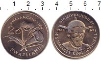 Изображение Монеты Свазиленд 2 лилангени 1981 Медно-никель UNC-
