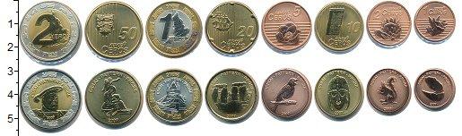 Изображение Наборы монет Великобритания Англия 2007 2007  UNC В наборе 8 монет ном