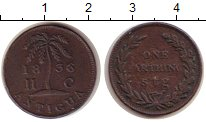 Изображение Монеты Антигуа и Барбуда 1 фартинг 1836 Медь VF