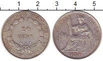 Изображение Монеты Индокитай 20 центов 1930 Серебро XF Протекторат  Франции