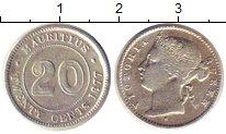 Изображение Монеты Маврикий 20 центов 1877 Серебро XF