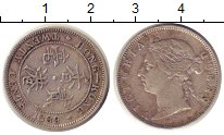 Изображение Монеты Гонконг 20 центов 1889 Серебро XF