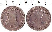 Изображение Монеты Боливия 8 реалов 1839 Серебро VF Симон  Боливар.