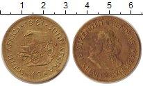 Изображение Монеты ЮАР 1 цент 1961  XF кибитка