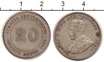 Изображение Монеты Стрейтс-Сеттльмент 20 центов 1927 Серебро VF Георг V