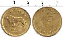 Изображение Монеты Руанда 1 франк 1961 Медь XF