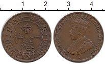 Изображение Монеты Гонконг 1 цент 1933 Бронза XF