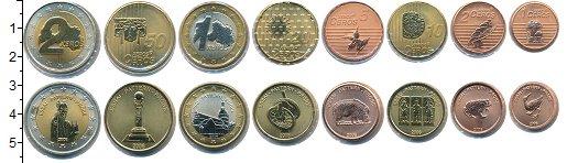 Изображение Наборы монет Латвия Латвия 2006 2006  UNC В наборе 8 монет ном