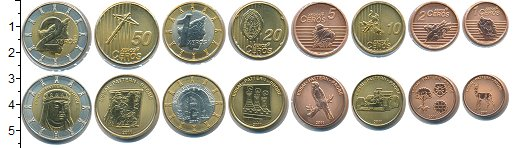 Изображение Наборы монет Сан-Марино Сан-Марино 2011 2011  UNC В наборе 8 монет ном