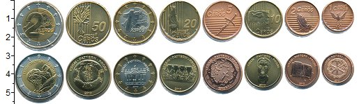 Изображение Наборы монет Ватикан Ватикан 2010 2010  UNC В наборе 8 монет ном