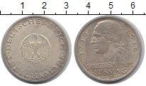 Изображение Монеты Веймарская республика 3 марки 1929 Серебро XF Лессинг А