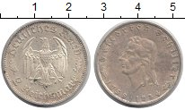 Изображение Монеты Третий Рейх 2 марки 1934 Серебро UNC- Фридрих Шиллер.