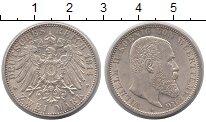 Изображение Монеты Вюртемберг 2 марки 1914 Серебро XF Вильгельм II.