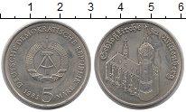 Изображение Монеты ГДР 5 марок 1983 Медно-никель XF Замковая церковь в В