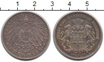 Изображение Монеты Гамбург 2 марки 1902 Серебро XF