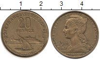 Изображение Монеты Сомали 20 франков 1952 Латунь XF Протекторат  Франции