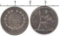 Изображение Монеты Индокитай 10 центов 1900 Серебро XF