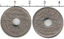 Изображение Монеты Тунис 10 сентим 1919 Медно-никель XF Протекторат  Франции