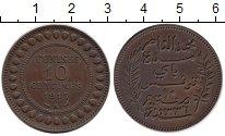Изображение Монеты Тунис 10 сантим 1917 Бронза XF Французский протекто