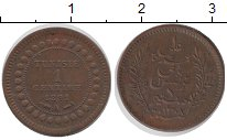 Изображение Монеты Тунис 1 сантим 1891 Бронза XF