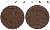 Изображение Монеты Тунис 10 сантимов 1904 Бронза XF